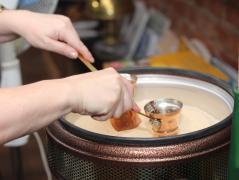 как готовится кофе на песке